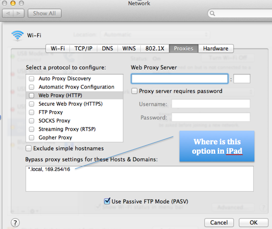 How to set bypass proxy settings for loca… - Apple Community
