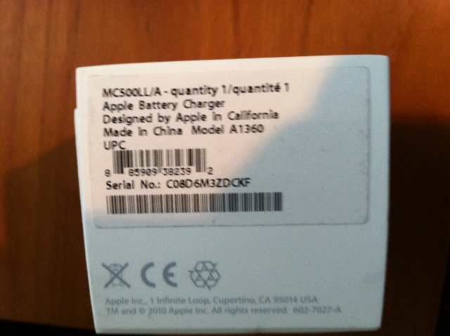 How Do Know On Earpods Box Serial Number Apple Community