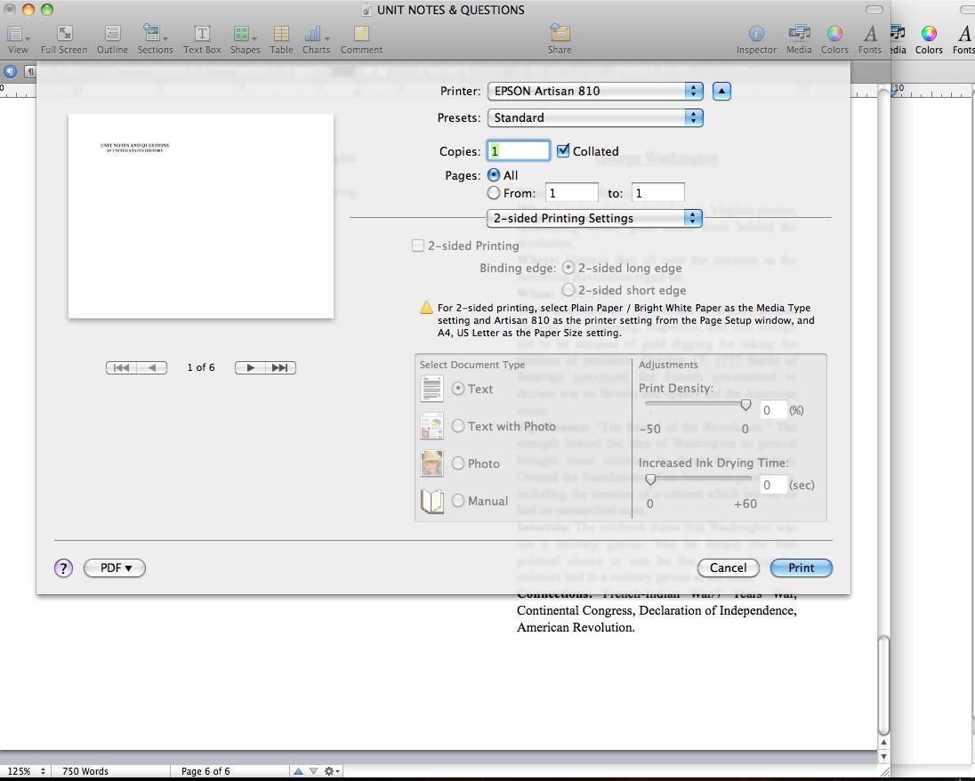 EPSON Artisan 810 Two-Sided Print Option … - Apple Community