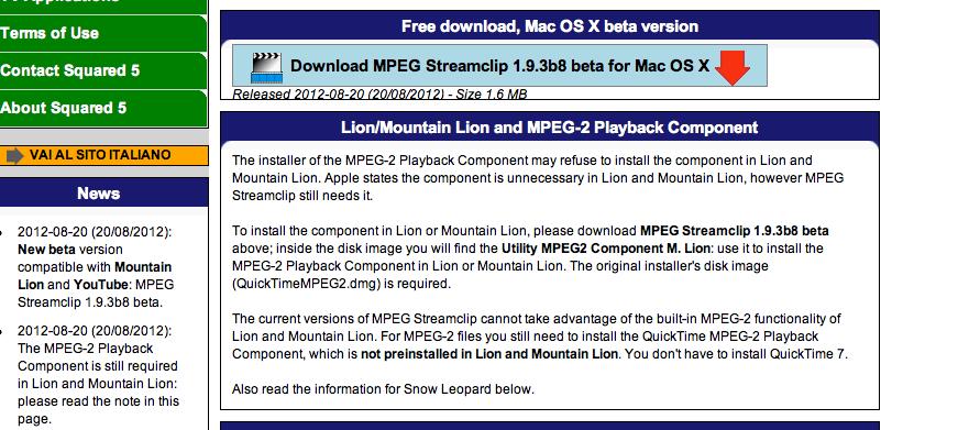 Open mpeg 2 file