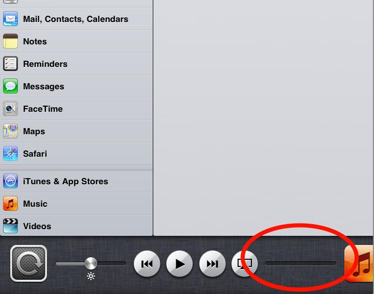No Sound Effects Control on iPad 2? - Apple Community