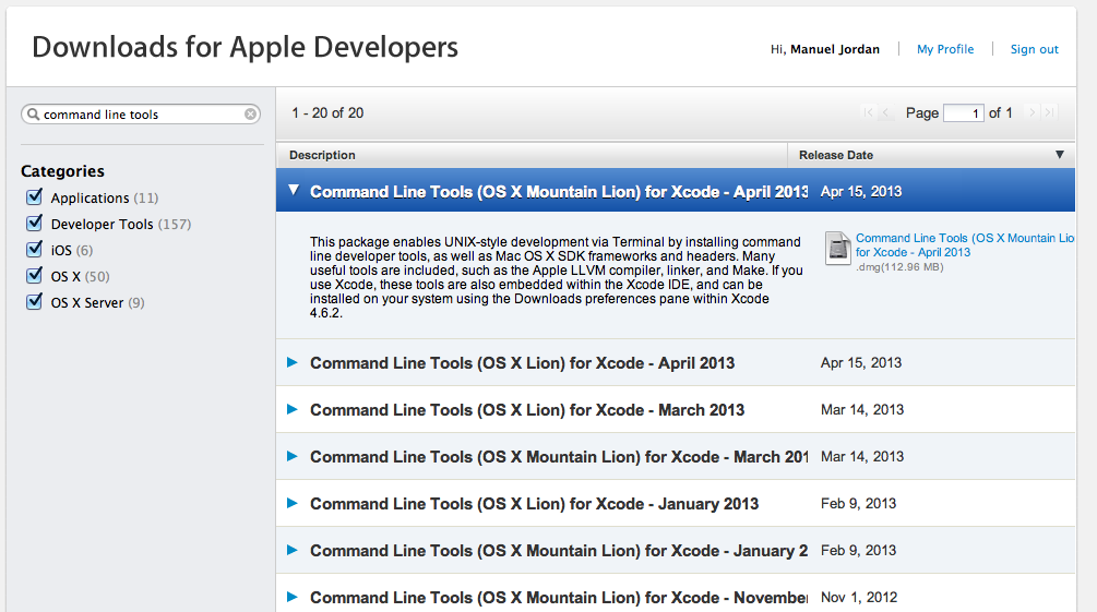 Where is Command Line Tools for Xcode? - Apple Community