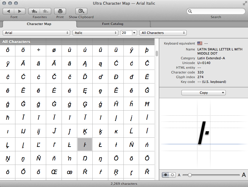 Keyboard view of dingbats and other picto… - Apple Community