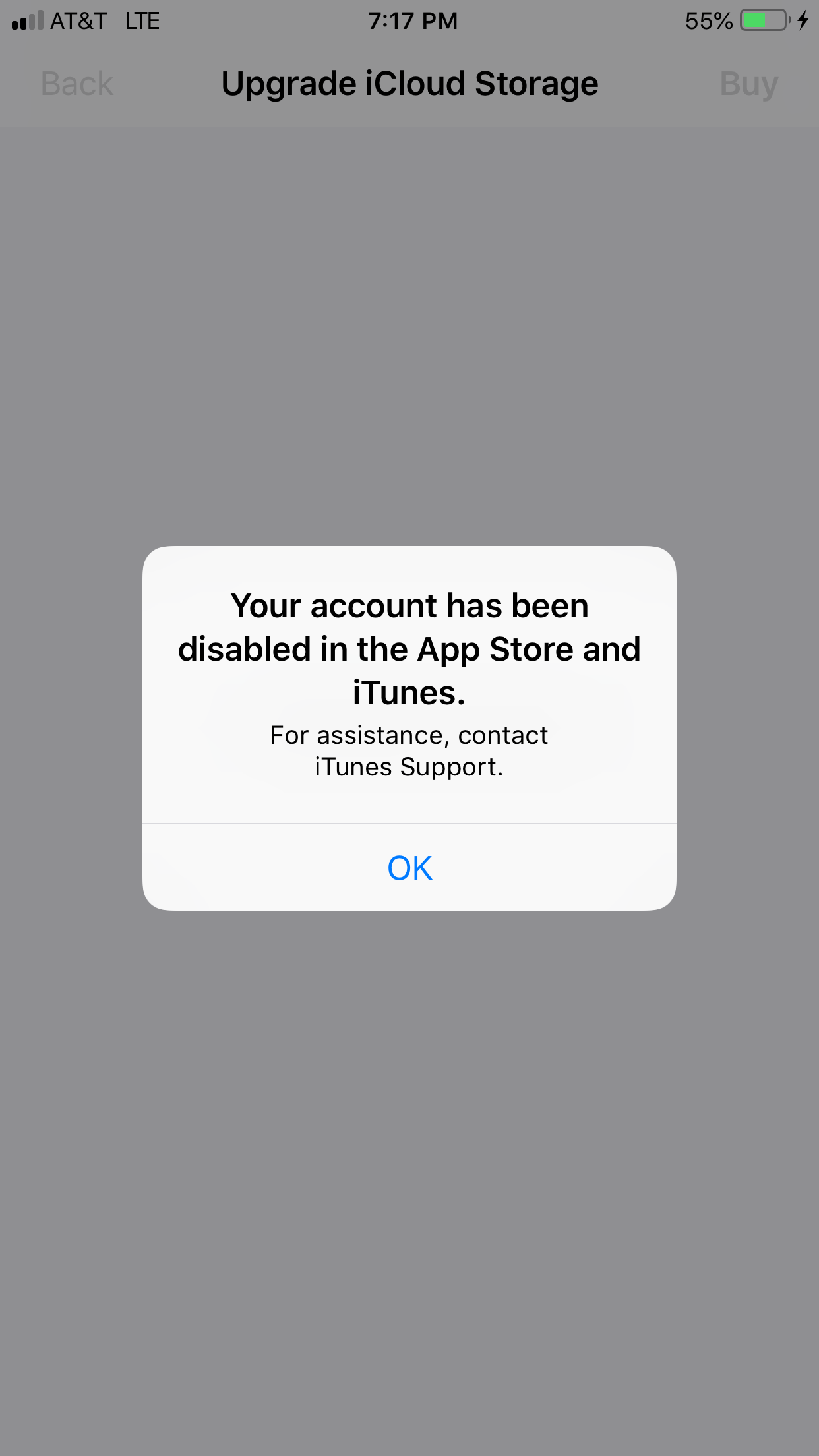 account has been disabled in the app store and itunes