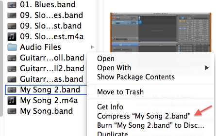 Can you email a GarageBand project so you… - Apple Community