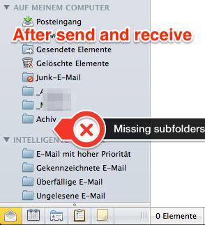 Outlook 2011 Mac local subfolders are dis… - Apple Community