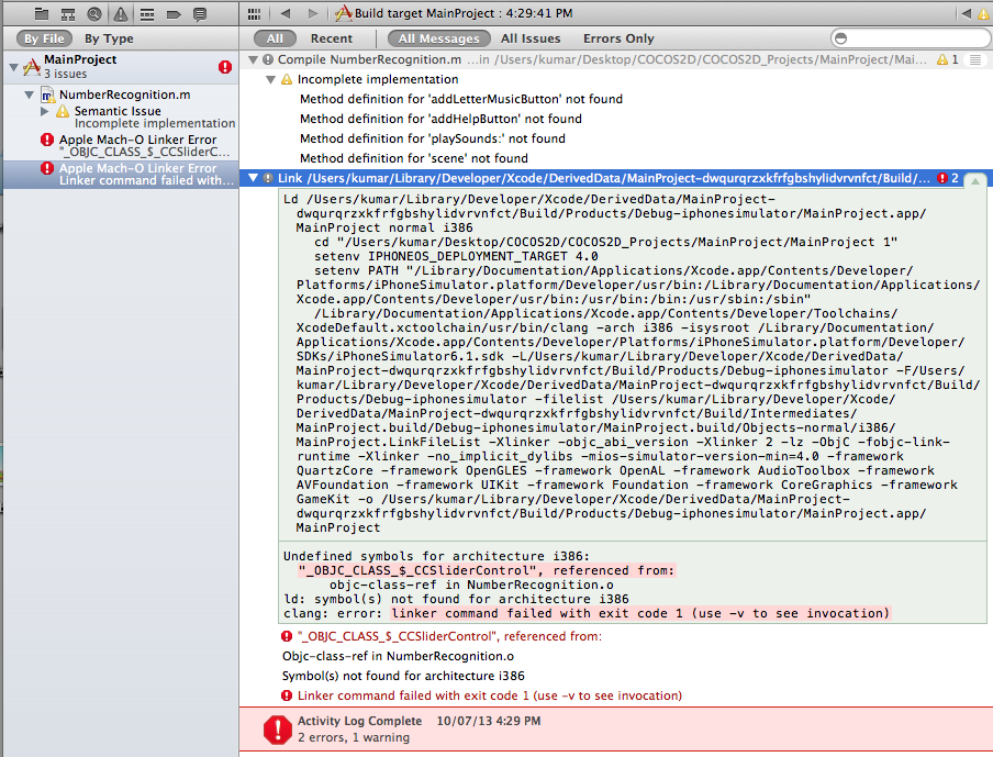 clang: error: linker command failed with … - Apple Community
