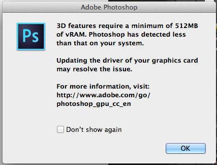 I updated to Adobe cc now my vram is insu… - Apple Community
