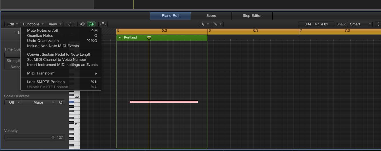 logic pro x cant reverse audio