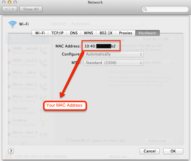 how to get mac address in macbook pro - Apple Community