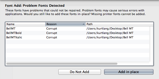 postscript type 1 outline font mac installieren