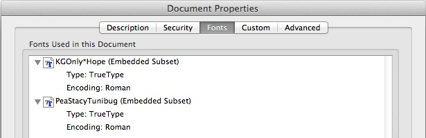 How do I check if the fonts embedded in m… - Apple Community