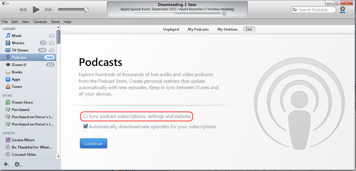 iTunes 11 1 deleted my podcasts - Apple Community