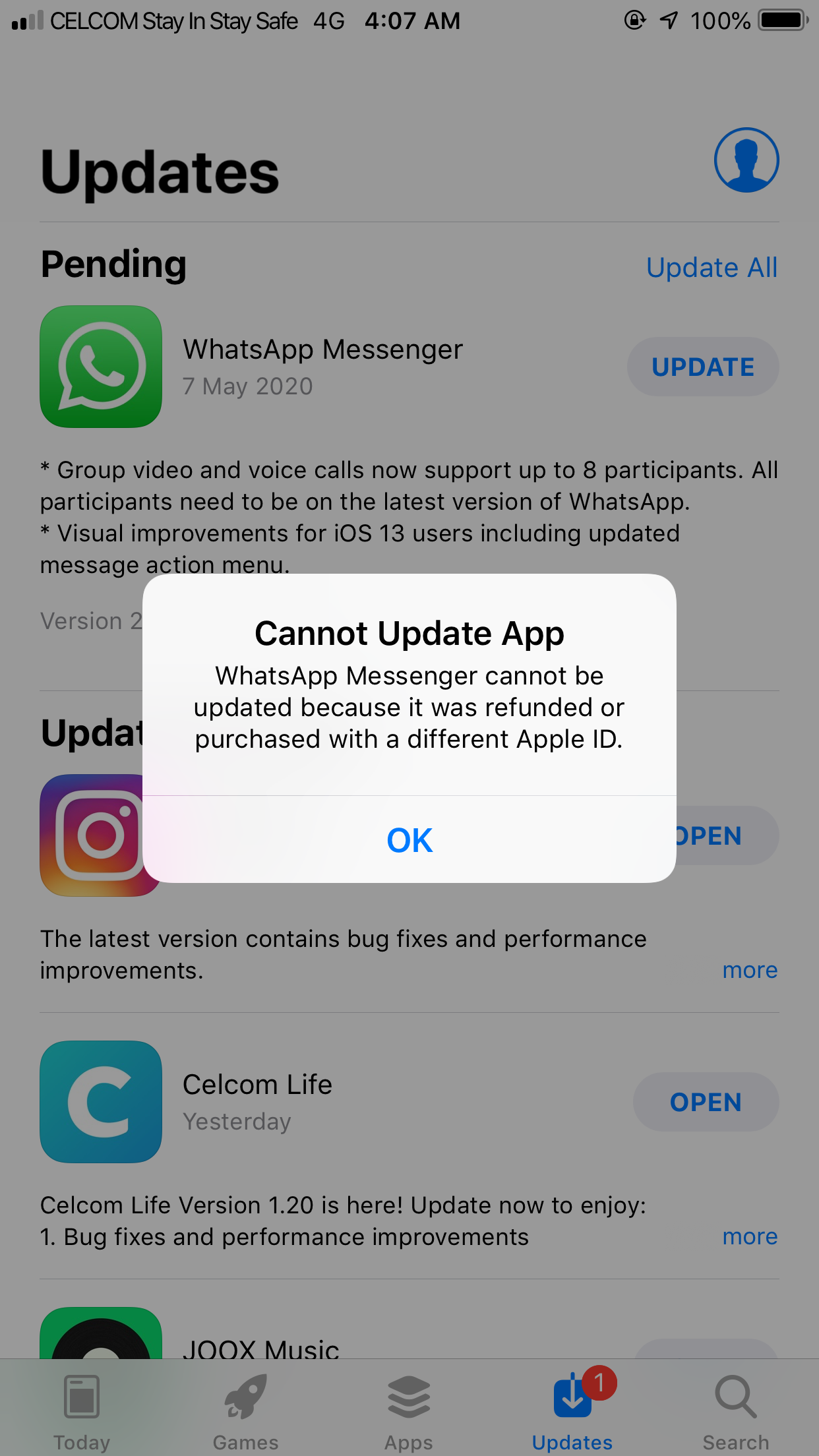 Cannot update Whatsapp apps - Apple Community
