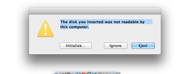 The disk you inserted was not readab\u2026 - Apple Community