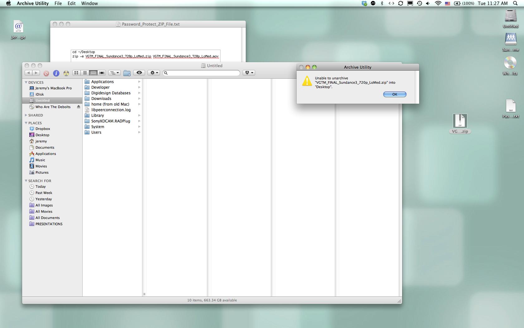 Password protect zip files-Terminal help - Apple Community