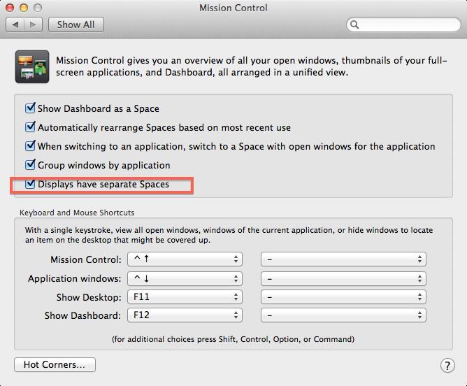 Remove menu bar from second monitor maver… - Apple Community