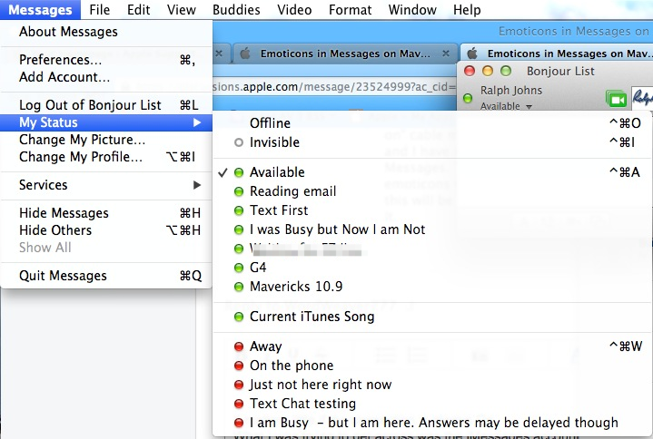 Emoticons in Messages on Mavericks - Apple Community
