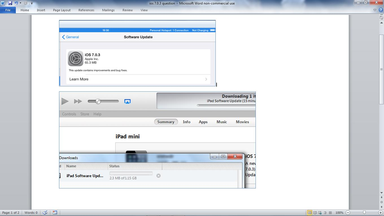 ios (7 0 3 ipad) update file size discrep… - Apple Community