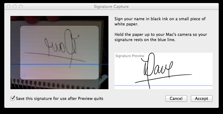 Preview won't capture signature - Apple Community