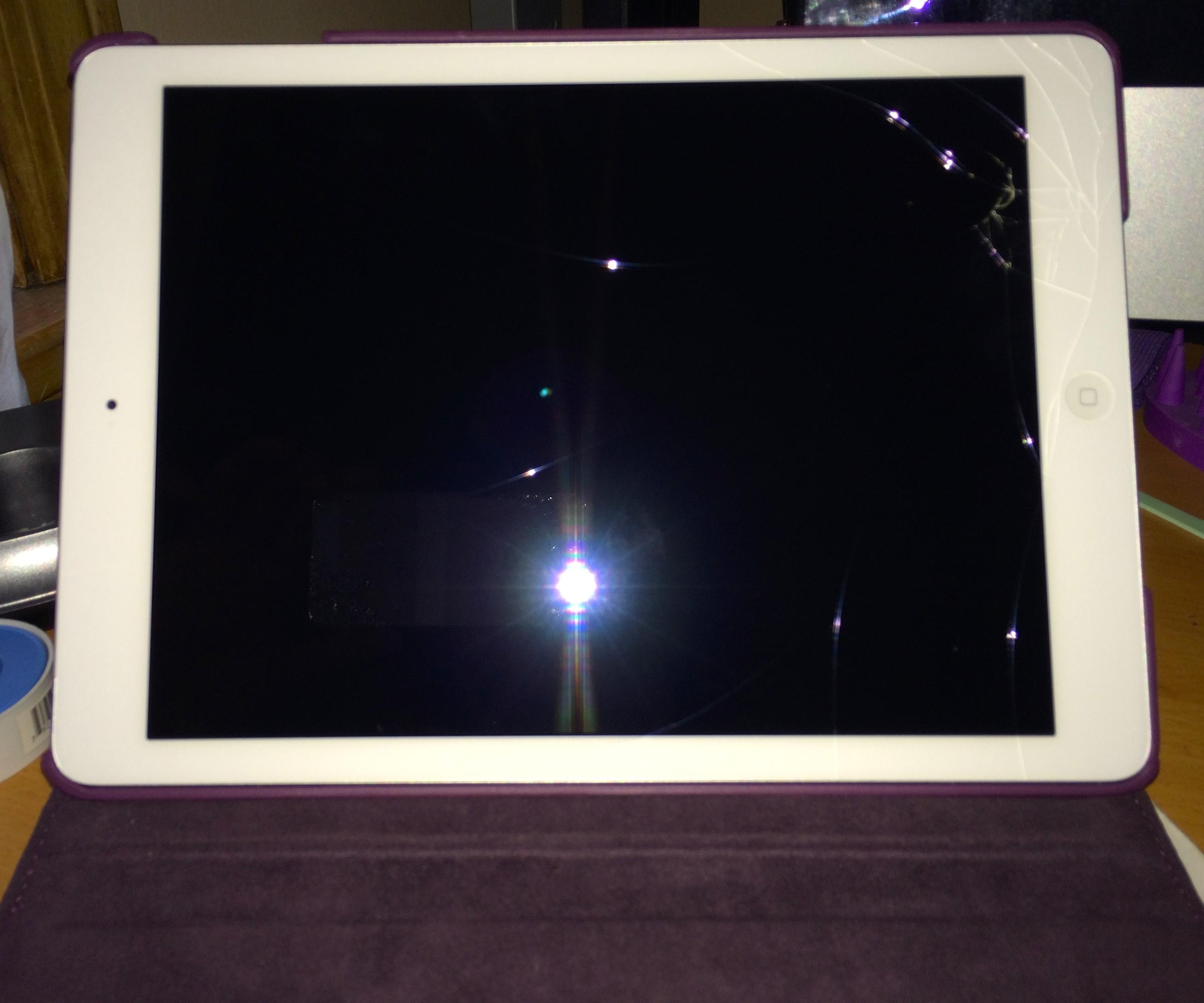 iPad Air glass break - Apple Community