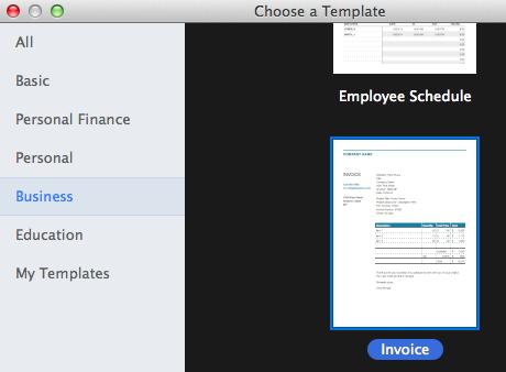 Invoice Template Apple Community