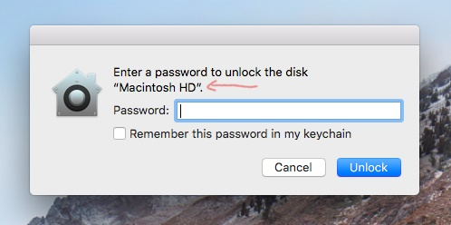 Enter a password to unlock the