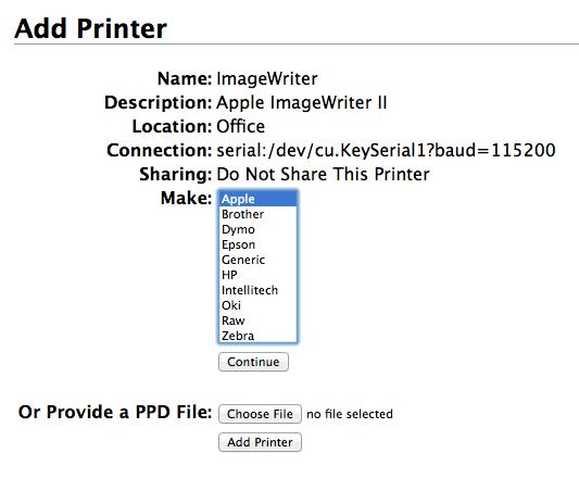 Apple ImageWriter printer installation in… - Apple Community