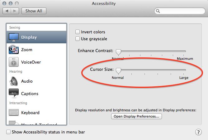mouse pointer disappears mac mavericks
