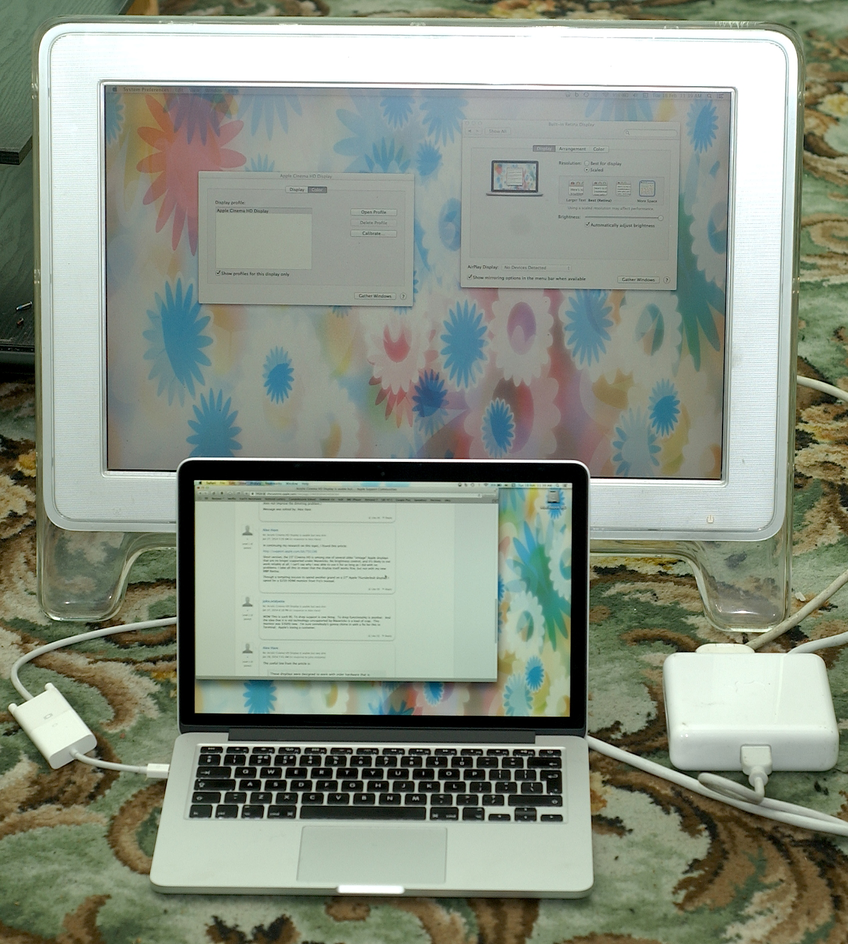 How to use an apple cinema display with a windows laptop / desktop.