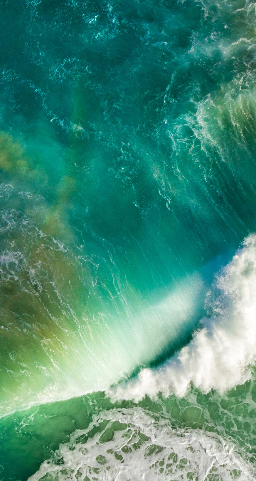 iOS 21 Green Wave Wallpaper   Apple Community
