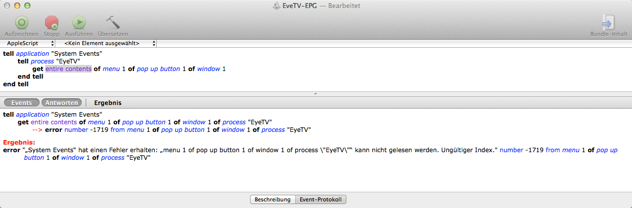 Applescript to automatically update the E… - Apple Community