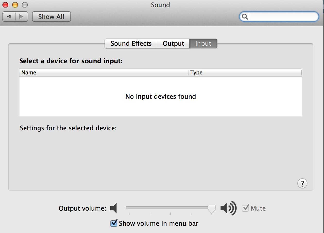 No Audio Output Device Found, Volume icon… - Apple Community