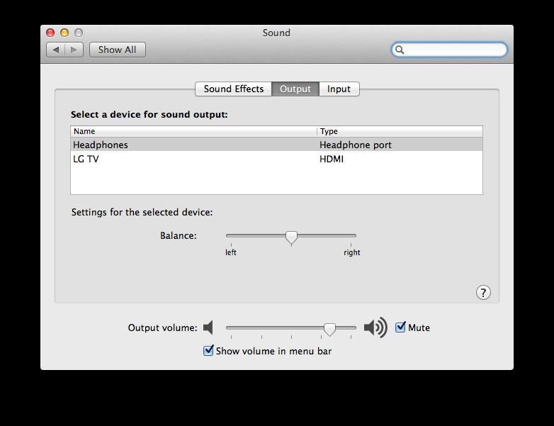 No sound selectable on LG TV HDMI Mac Min… - Apple Community