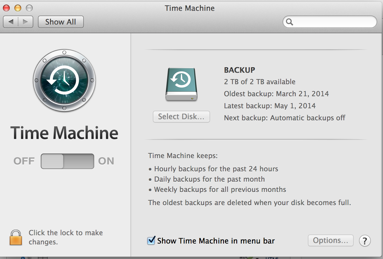 Reset Time Machine Password to Backup Usi… - Apple Community