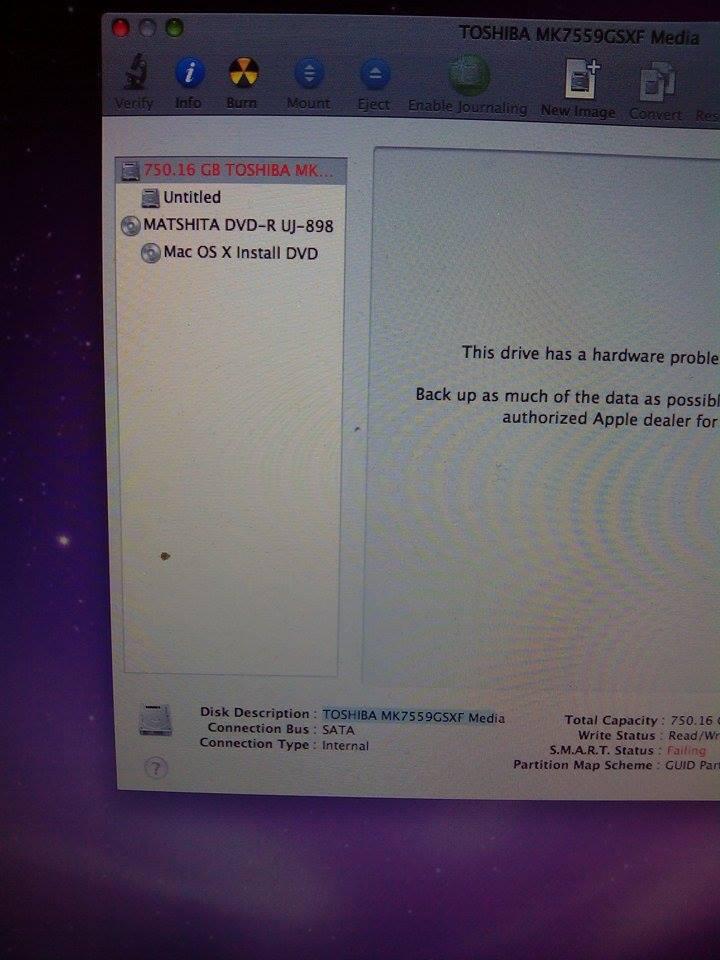 toshiba hard drive in macbook pro - Apple Community