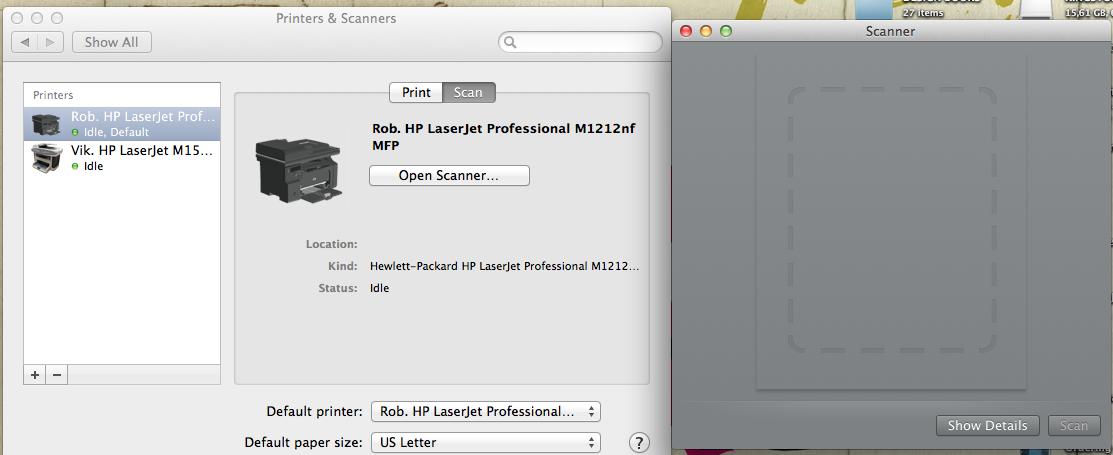 Scan not working on HP LaserJet Professio… - Apple Community