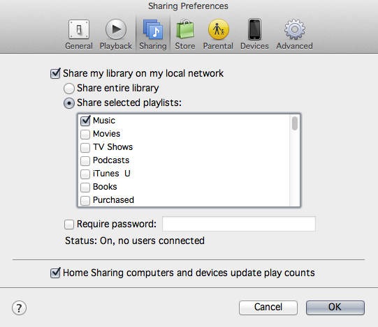 Home Sharing Itunes 11 1 5 Mountain Lion Apple Community