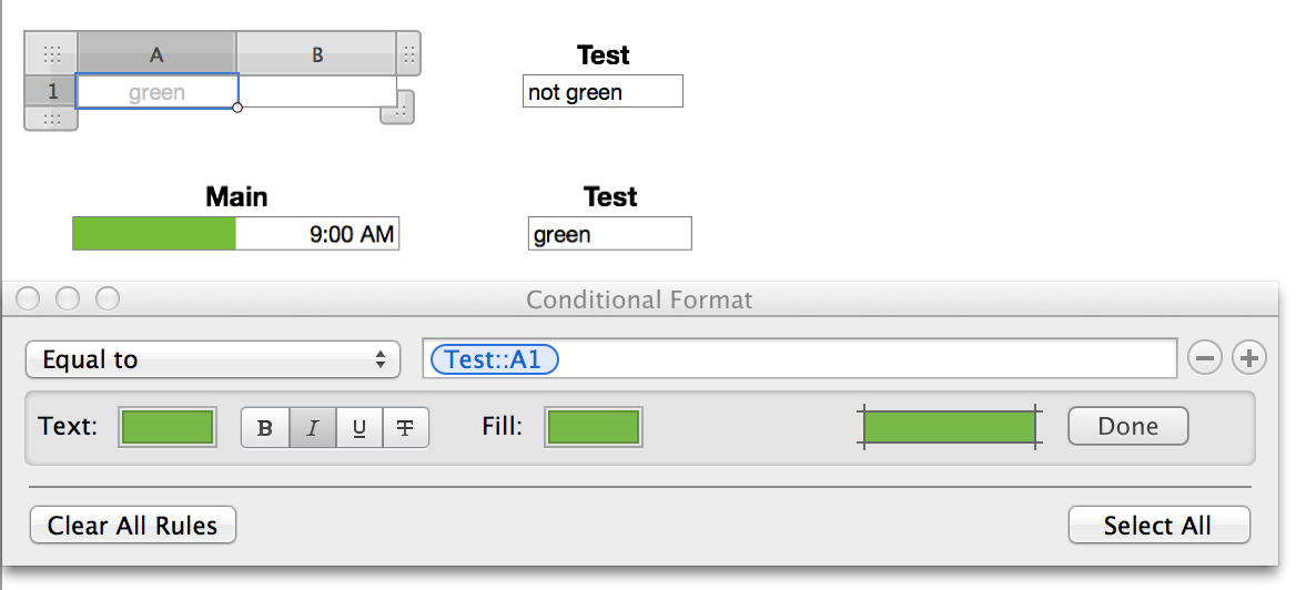 Conditional Formatting on other Cell  - Apple Community