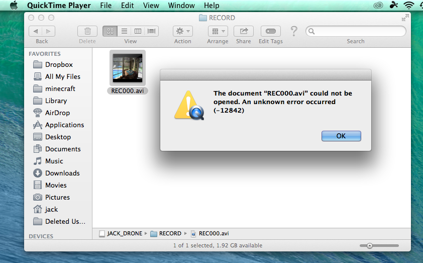 I Have an error with quicktime - Apple Community