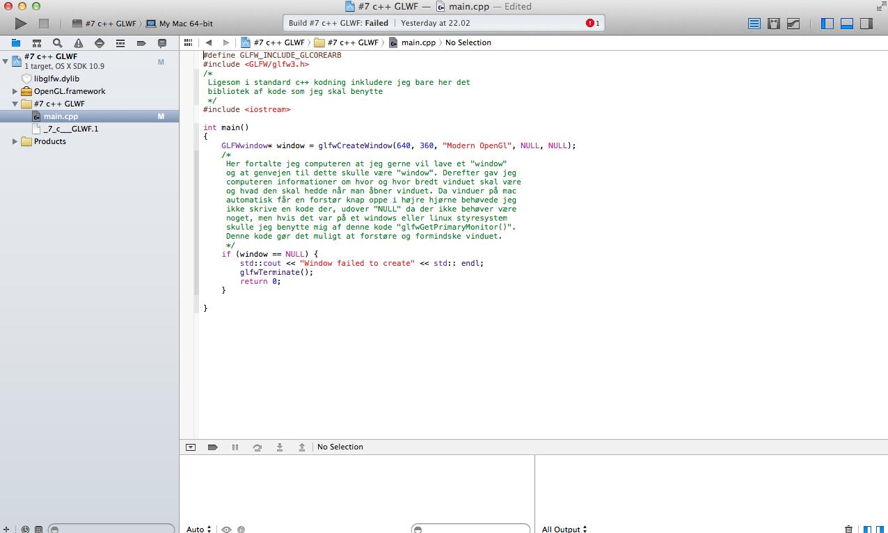 HELP with Xcode glfw - Apple Community