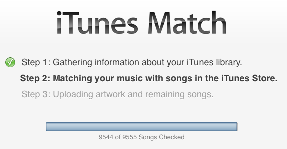 iTunes Match won't upload new songs  - Apple Community