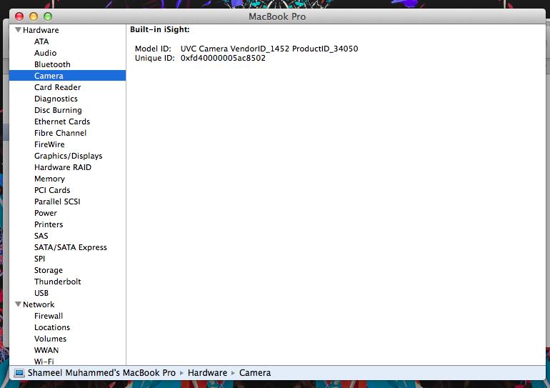 Isight camera working on windows side but… - Apple Community