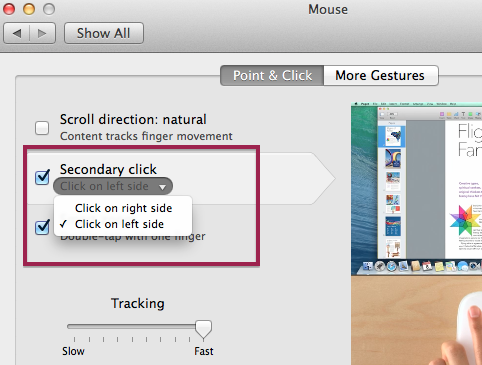 Changing my mouse setting to left handed - Apple Community