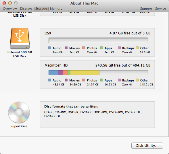 OmniDiskSweeper and About this Mac don … - Apple Community