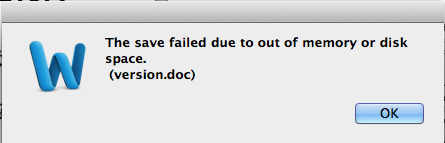 MS Word for Mac, insufficient memory - Apple Community