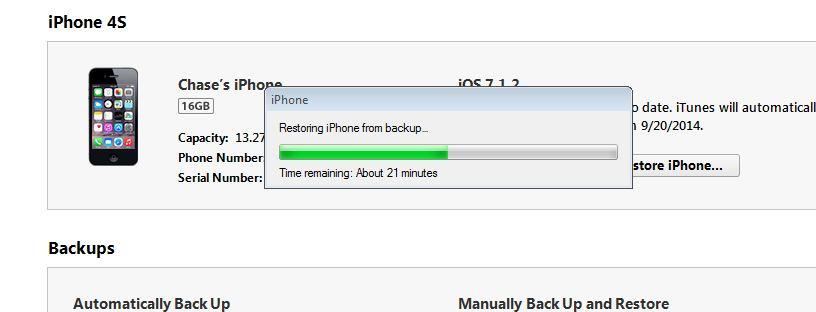 iTunes Backup Session Failed  - Apple Community