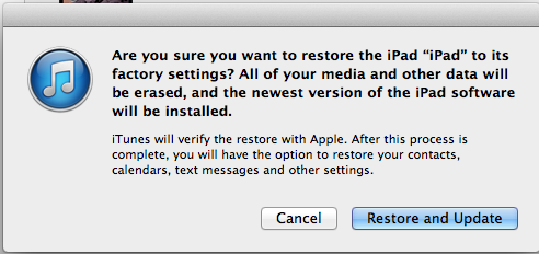 Tried to update to IOS8, failed, Ipad now… - Apple Community