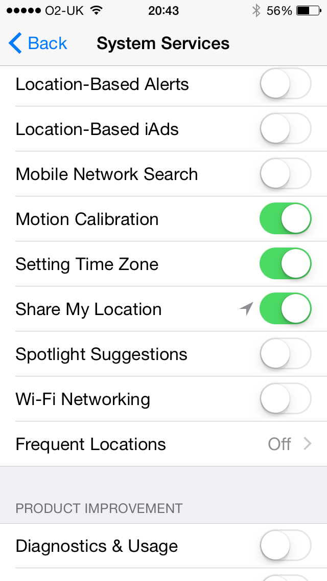 Location services completely grey since i… - Apple Community