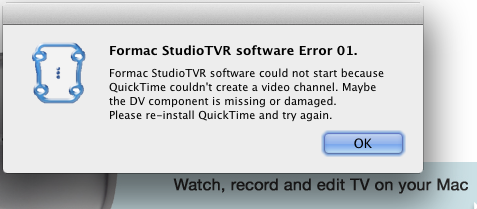 quicktime pro errors - Apple Community